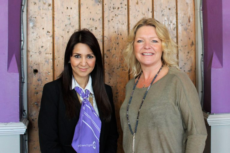 Nusrat Razzaq, engagement support officer, Learning Curve Group and Allison Mckay, managing director of Humantics CIC